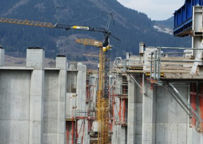 Construction of the motorway bridge D1 at Ružomberok